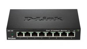 D-Link DES-108 switch di rete No gestito Fast Ethernet (10/100) Nero