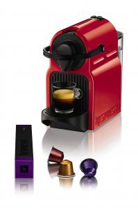 Krups Inissia XN1005 Ruby Red Libera installazione Macchina per caffè con capsule 0,7 L