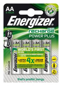 Energizer Accu Recharge Power Plus 2000 AA BP4 Nichel-Metallo Idruro 2000mAh 1.2V batteria ricaricabile