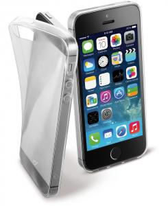 Cellularline Fine - iPhone 5S/5 Cover in gomma morbida ultra sottile e trasparente Trasparente