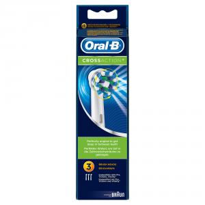Braun CrossAction, 3pcs 3pezzo(i) Blu, Bianco testina per spazzolino