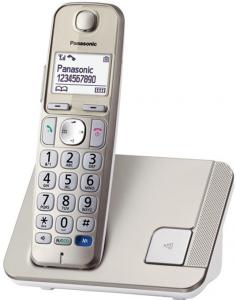 Panasonic KX-TGE210JTN DECT Identificatore di chiamata Champagne telefono