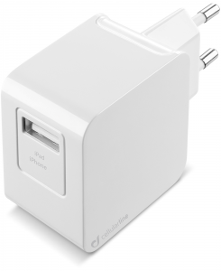 Cellularline USB Charger Kit Ultra - Fast Charge Lightning Cavo e caricabatterie veloce 10W in un'unica soluzione Bianco