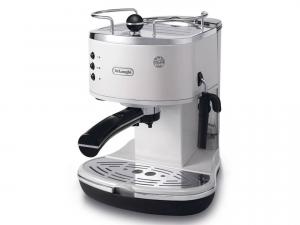 DeLonghi ECO 311.W Libera installazione Manuale Macchina per espresso 1.4L 2tazze Nero, Acciaio inossidabile, Bianco