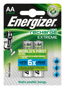 Energizer Accu Recharge Extreme 2300 AA BP2 batteria ricaricabile Nichel-Metallo Idruro (NiMH) 2300 mAh 1,2 V