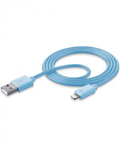 Cellularline Data Cable #Stylecolor - Lightning Cavo per la ricarica e sincronizzazione dei dati colorato Blu