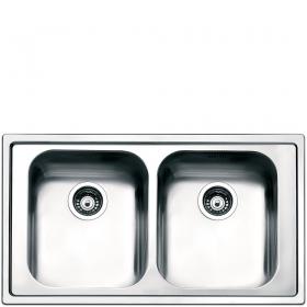 Smeg LPE862 Lavandino da cucina top-mount Rettangolare Acciaio inossidabile lavello
