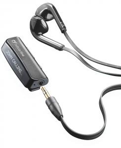 Cellularline Vision Clip Headset - iPhone Clip con tecnologia Bluetooth, auricolari stereo e display LCD Nero