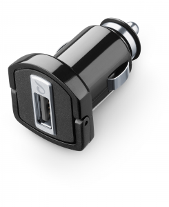 Cellularline USB Car Charger Ultra - Fast Charge Universale Micro caricabatterie da auto USB Nero