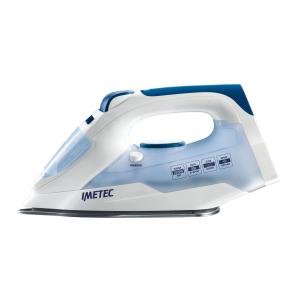 Imetec TITANOX K109 Ferro da stiro a secco e a vapore Acciaio inossidabile 2000W Blu, Bianco