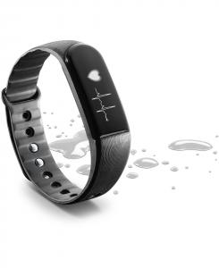 Cellularline Easy Fit HR - Universale Fitness Tracker touch screen con rilevamento del battito cardiaco Nero