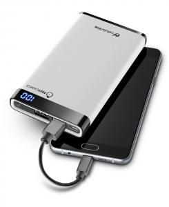 Cellularline Freepower Manta 8000 - Universale Caricabatterie portatile sottile, veloce, potente Bianco