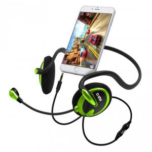 SBS TEHEADPHONEGAME auricolare per telefono cellulare Stereofonico Padiglione auricolare Nero, Verde Cablato