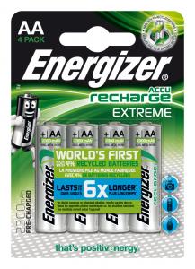 Energizer Accu Recharge Extreme 2300 AA BP4 Nichel-Metallo Idruro 2300mAh 1.2V batteria ricaricabile