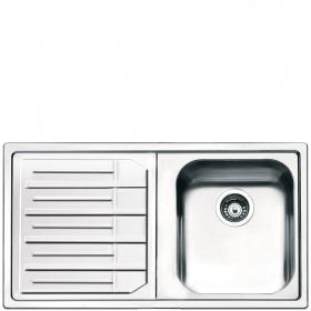 Smeg LPE861S Lavandino da cucina top-mount Rettangolare Acciaio inossidabile lavello