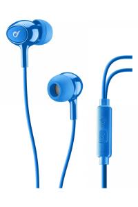 Cellularline Auricolari Pump Bass In-Ear Acoustic con Microfono Blu