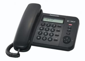 Panasonic KX-TS580EX1B Identificatore di chiamata Nero telefono
