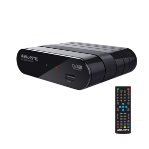 New Majestic DEC-662 HD USB REC set-top box TV Terrestre Nero