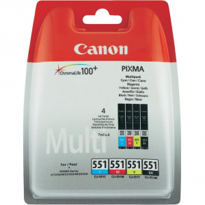 Canon CLI-551 C/M/Y/BK w/sec Nero, Ciano, Giallo cartuccia d'inchiostro