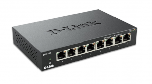 D-Link DGS-108 No gestito Nero switch di rete
