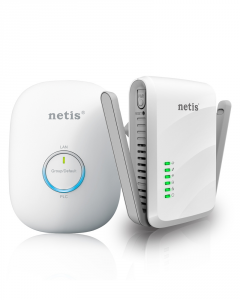 Netis System PL7622 KIT 600Mbit/s Collegamento ethernet LAN Wi-Fi Bianco 1pezzo(i) adattatore di rete powerline