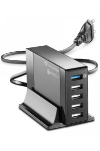 Cellularline ACHUSB5QUAL9AK Caricabatterie per dispositivi mobili Interno Nero