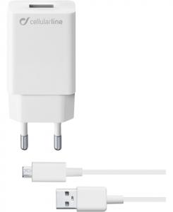 Cellularline Micro USB Samsung Caricabatterie veloce con cavo Micro USB per dispositivi Samsung