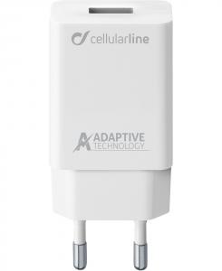 Cellularline Samsung Caricabatterie veloce per dispositivi a carica adattiva Bianco