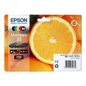 Epson C13T33374021 13.5ml 6.4ml Nero, Ciano, Magenta, Giallo cartuccia d'inchiostro