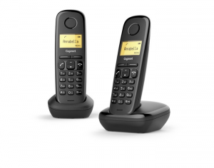 Gigaset A170 Duo Analog/DECT telephone Identificatore di chiamata Nero