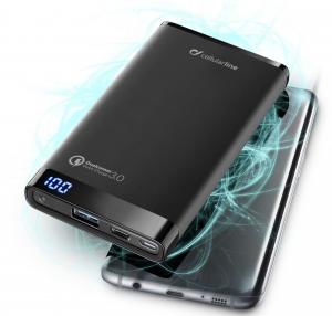Cellularline FREEPMANTA8QCCK Polimeri di litio (LiPo) 8000mAh Nero batteria portatile