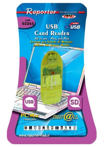 Reporter 2265 USB Verde lettore di schede