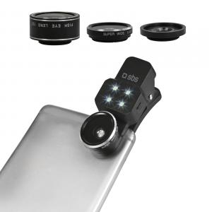 SBS TEKITLENS41 Fisheye, macro & wide Nero obiettivo per cellulare