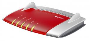 AVM FRITZ!Box 7490 International Dual-band (2.4 GHz/5 GHz) Gigabit Ethernet Rosso, Argento router wireless