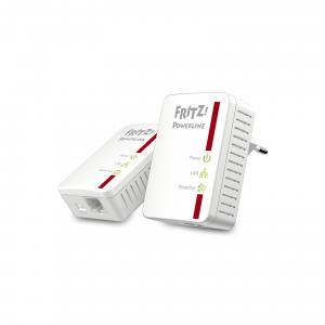 AVM FRITZ!Powerline 510E Set International 500Mbit/s Collegamento ethernet LAN Bianco 2pezzo(i)