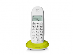 Motorola C1001L DECT Identificatore di chiamata Verde, Bianco