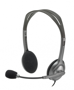 Logitech H111 Stereofonico Padiglione auricolare Grigio cuffia e auricolare