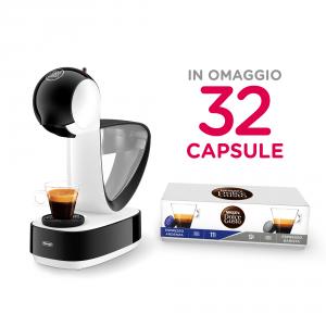 DeLonghi Dedica Style EDG260.W Libera installazione Macchina per caffè con capsule Nero, Bianco 1,2 L 1 tazze Semi-automatica