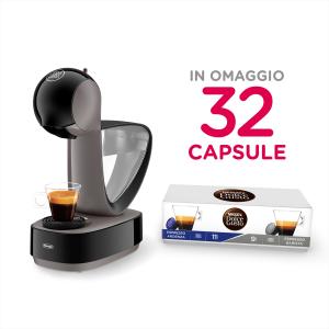 Macchina del caffè Dolcegusto Indinissima De Longhi EDG260G con 32 capsule in omaggio