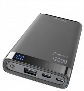 Vivanco FREEPMANTA12USBCK batteria portatile Nero Polimeri di litio (LiPo) 12000 mAh