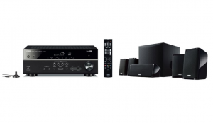Yamaha YHT-2950 BL sistema home cinema Compatibilità 3D 5.1 canali Nero