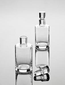 Bottigia in vetro con tappo 0,8 L cm.22h