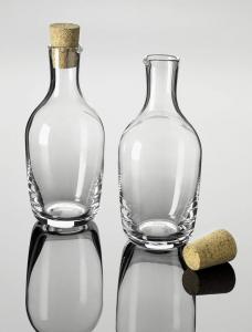 Bottiglia in vetro da 1,2 L con tappo in sughero cm.27h