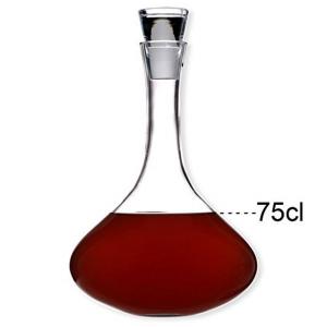 Decanter per vino con tappo da 0,75 L cm.21h