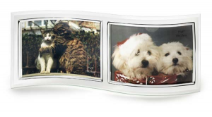 Portafoto doppio in vetro