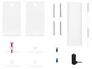 Bose 802171-0020 supporto da parete per casse acustiche Acciaio Bianco