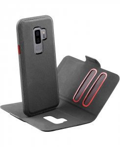 Cellularline Match - Galaxy S9+ Custodia a libro con cover interna removibile Nero