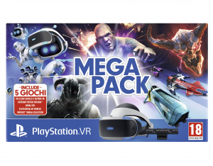 Sony PS VR Mega Pack Occhiali immersivi FPV Nero, Bianco 610 g