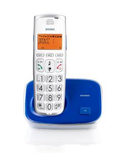 Brondi Bravo Gold 2 Telefono DECT Blu, Bianco Identificatore di chiamata