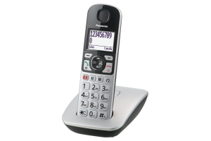 Panasonic KX-TGE510JTS telefono Telefono DECT Argento Identificatore di chiamata